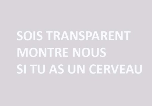 SOIS TRANSPARENT