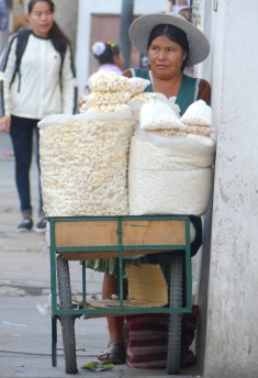 femme aux grains soufflés